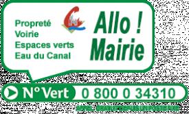 Allo Mairie Numéro vert (gratuit d'un poste fixe) : 0800034310